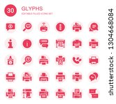 glyphs icon set. collection of... | Shutterstock .eps vector #1304668084