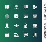 www icon set. collection of 16...   Shutterstock .eps vector #1304668171