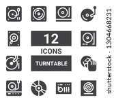 turntable icon set. collection... | Shutterstock .eps vector #1304668231