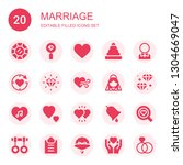 marriage icon set. collection... | Shutterstock .eps vector #1304669047
