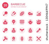 barbecue icon set. collection...   Shutterstock .eps vector #1304669947