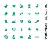 bird icon set. collection of 25 ... | Shutterstock .eps vector #1304670487