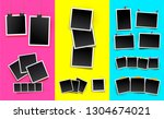 set of photo frames. realistic... | Shutterstock .eps vector #1304674021