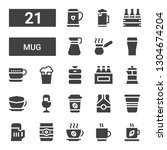 mug icon set. collection of 21... | Shutterstock .eps vector #1304674204