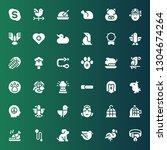 bird icon set. collection of 36 ... | Shutterstock .eps vector #1304674264