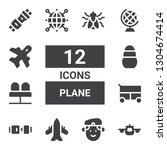 plane icon set. collection of... | Shutterstock .eps vector #1304674414