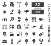 lamp icon set. collection of 32 ...   Shutterstock .eps vector #1304674987