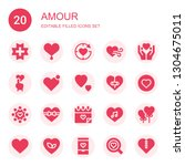 amour icon set. collection of... | Shutterstock .eps vector #1304675011