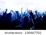 cheering crowd in front of... | Shutterstock . vector #130467701
