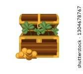 chest with coins isolated icon | Shutterstock .eps vector #1304678767