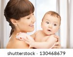 picture of happy mother with... | Shutterstock . vector #130468679