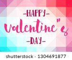 happy valentine's day words on... | Shutterstock . vector #1304691877
