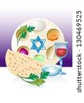 jewish celebrate pesach...   Shutterstock .eps vector #130469525
