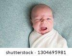 newborn babe demands something... | Shutterstock . vector #1304695981