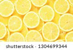 A Slices Of Fresh Juicy Yellow...