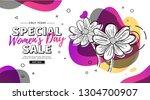modern template design for 8... | Shutterstock .eps vector #1304700907