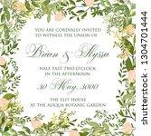 elegance wedding invitation... | Shutterstock .eps vector #1304701444