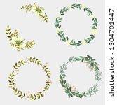 elegance wedding invitation...   Shutterstock .eps vector #1304701447