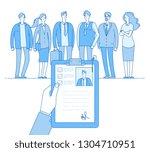 staff recruitment. human... | Shutterstock .eps vector #1304710951