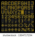 led dot matrix panel. letters ... | Shutterstock .eps vector #1304717254