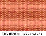brown brick wall background | Shutterstock .eps vector #1304718241