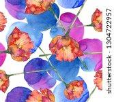 red tulip botanical flower.... | Shutterstock . vector #1304722957