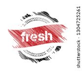 rubber stamp with word fresh...