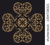 gold ornament baroque style....   Shutterstock .eps vector #1304728321