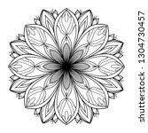 mandala art texture... | Shutterstock . vector #1304730457