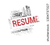 resume word cloud collage ... | Shutterstock .eps vector #1304737327