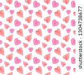 valentine day greeting card.... | Shutterstock . vector #1304738677