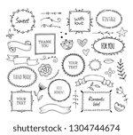 scrapbook sketch elements.... | Shutterstock .eps vector #1304744674