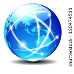 asia and australia  global... | Shutterstock .eps vector #130474511