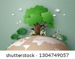 eco and environment concept ... | Shutterstock .eps vector #1304749057