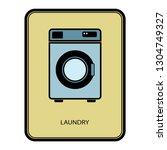 laundry vector icon. | Shutterstock .eps vector #1304749327