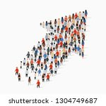 large group of people in the... | Shutterstock .eps vector #1304749687