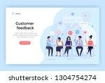 customer feedback management ... | Shutterstock .eps vector #1304754274