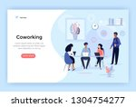 coworking space  business team... | Shutterstock .eps vector #1304754277