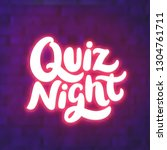 quiz night banner. | Shutterstock .eps vector #1304761711