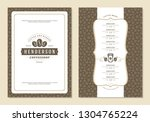 coffee menu design brochure... | Shutterstock .eps vector #1304765224
