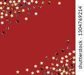 stars confetti diagonal border. ... | Shutterstock .eps vector #1304769214