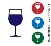 blue wine glass icon isolated... | Shutterstock .eps vector #1304770741
