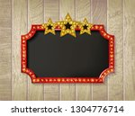 theater sign or cinema on... | Shutterstock .eps vector #1304776714