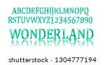 wonderland font. fairy abc. set ... | Shutterstock .eps vector #1304777194