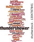 thundershower word cloud... | Shutterstock .eps vector #1304787841