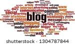 blog word cloud concept. vector ... | Shutterstock .eps vector #1304787844
