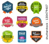 set of vector sales labels and... | Shutterstock . vector #130479407