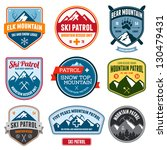 set of ski patrol mountain... | Shutterstock . vector #130479431
