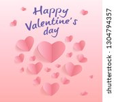 valentine's day. card with... | Shutterstock .eps vector #1304794357