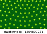 chamomile pattern on a green... | Shutterstock .eps vector #1304807281